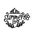 hello summer script text design template vector image vector image