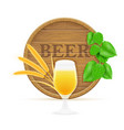 hops and wheat ingredients for making beer vector image