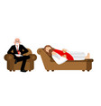 jesus is at psychologists reception christ and vector image vector image