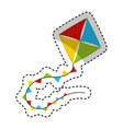 kite toy isolated icon vector image vector image