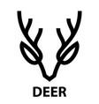 line icon deer head vector image vector image