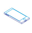 line technology smartphone to communicate and vector image vector image