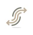 Logo Abstract Line Arrow Symbol Design Icon vector image vector image