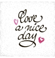 Love a Nice Day lettering handmade vector image vector image