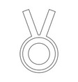 medal the black color icon vector image vector image