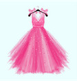 pink birthday party dress with bow vector image