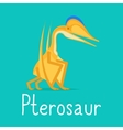 Pterosaur dinosaur colorful card vector image