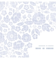 Purple textile flowers texture frame corner vector image vector image
