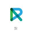 r monogram flat style letter transparent lines vector image vector image