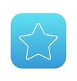 Rating star line icon vector image vector image