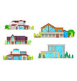 residential houses villas and mansion buildings vector image vector image