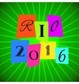 Rio 2016 Games over Green vector image