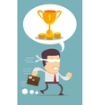running young man businessman cartoon wow excited vector image vector image