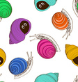 seamless pattern snails vector image