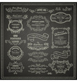 set vintage design elements vector image vector image