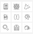 simple set 9 line icons such as information mv vector image vector image