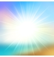 Summer Background Sky and Sun Light with Lens vector image