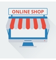 two-tone icon online store vector image vector image