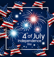 usa 4th of july happy independence day vector image vector image
