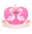 valentine flamingos topic image 5 vector image vector image
