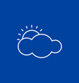 weather icon on blue background vector image vector image