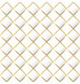 white color mosaic with gold frame seamless vector image vector image