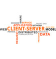 word cloud - client server model vector image vector image