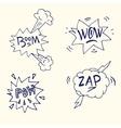 comic boom or blast explosions vector image