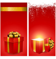Red gift box banners vector image