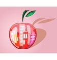 City in the apple vector image