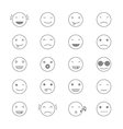 Emoticons Collection Set of Emoji Flat monochrome vector image