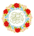 flower wreath Floral element for design of vector image