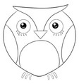 adult coloring bookpage a cute owl image for vector image