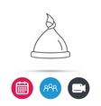 Baby hat icon Newborn cap sign vector image