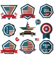 Badges set Can use for greeting card Memorial day vector image