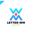 bank or finance organization letter m or w logo vector image vector image