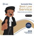 banner design best law service vector image