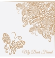 card White background and brown ornament vector image vector image