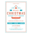 Christmas party invitation poster design vector image vector image
