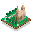 church in park vector image vector image