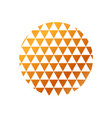 circle with triangles pattern vector image vector image