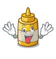 crazy homemade mustard sauce in cartoon bottle vector image vector image