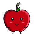 cute apple emoticon vector image