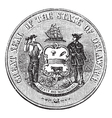 Delaware Seal engraving