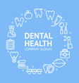 dental health round design template line icon vector image vector image