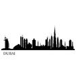 Dubai city silhouette skyline vector image vector image