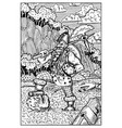 dwarf engraved fantasy vector image vector image