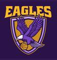 eagle basketball team mascot vector image