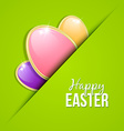 Easter eggs card template vector image vector image