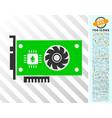 ethereum gpu videocard flat icon with bonus vector image vector image